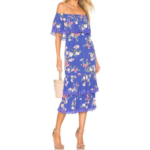 Lovers + Friends Dresses & Skirts - Lovers + Friends Elouise Dress Floral Lace Midi